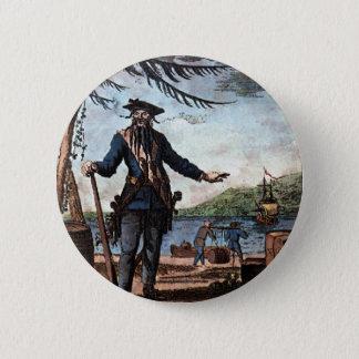 Bóton Redondo 5.08cm Pirata temível Blackbeard!
