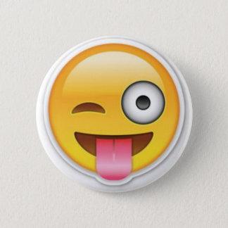 Bóton Redondo 5.08cm Piscar os olhos insolente do emoji do smiley