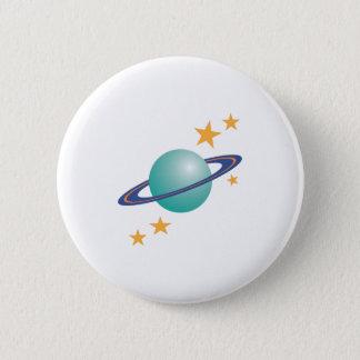 Bóton Redondo 5.08cm Planeta Saturn