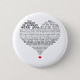 Bóton Redondo 5.08cm Poema do dia das mães