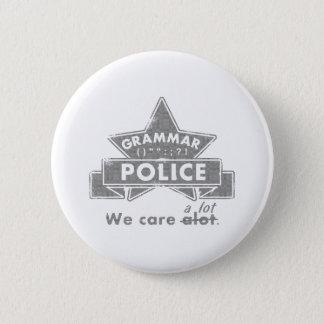 Bóton Redondo 5.08cm Polícia da gramática