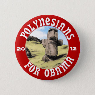 Bóton Redondo 5.08cm Polinésios para Obama