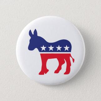 Bóton Redondo 5.08cm Política Democrática do americano do asno