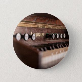 Bóton Redondo 5.08cm Polônia antigo velho da música do instrumento do