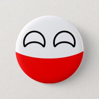 Bóton Redondo 5.08cm Polônia Geeky de tensão engraçado Countryball