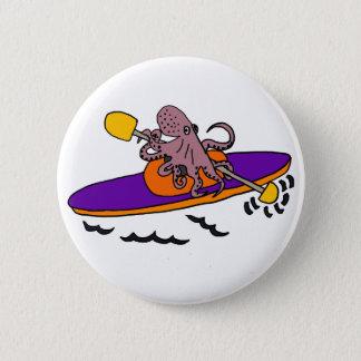 Bóton Redondo 5.08cm Polvo roxo engraçado que Kayaking