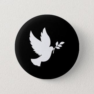 Bóton Redondo 5.08cm Pomba da paz