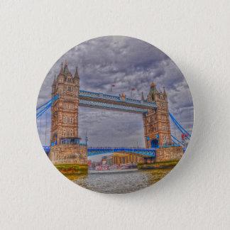 Bóton Redondo 5.08cm Ponte da torre de Londres, Inglaterra & Thames