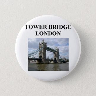 Bóton Redondo 5.08cm ponte da torre; ondon Inglaterra