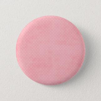 Bóton Redondo 5.08cm Pontos cor-de-rosa e brancos do Grunge