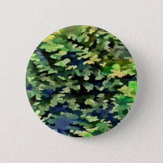 Bóton Redondo 5.08cm Pop art abstrato da folha em verde e no azul