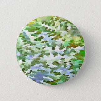Bóton Redondo 5.08cm Pop art abstrato da folha no verde branco e no pó