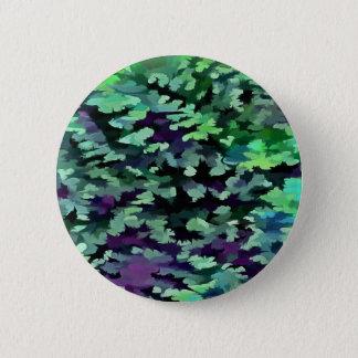 Bóton Redondo 5.08cm Pop art abstrato da folha no verde e no roxo de