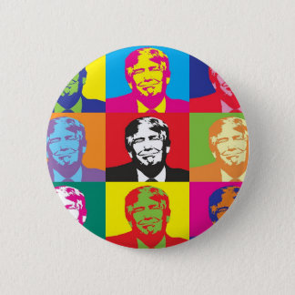 Bóton Redondo 5.08cm Pop art de Donald Trump
