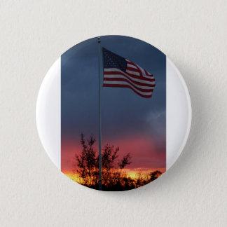 Bóton Redondo 5.08cm Por do sol e bandeira de Tennessee
