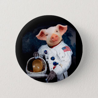 Bóton Redondo 5.08cm Porco do astronauta - astronauta do espaço