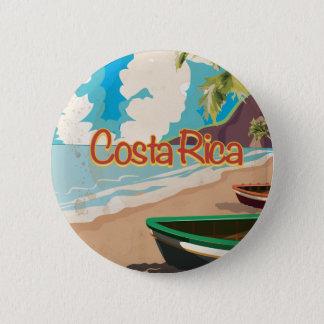 Bóton Redondo 5.08cm Poster das viagens vintage de Costa Rica