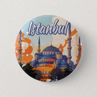 Bóton Redondo 5.08cm Poster das viagens vintage de Istambul