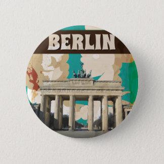 Bóton Redondo 5.08cm Poster de viagens de Berlim do vintage