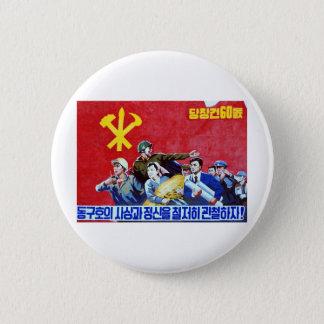 Bóton Redondo 5.08cm Poster norte-coreano do partido comunista