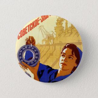 Bóton Redondo 5.08cm Poster soviético da propaganda do programa