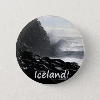Bóton Redondo 5.08cm Praia Islândia de Reynisfjara