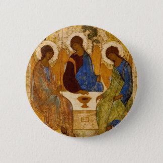Bóton Redondo 5.08cm Presente católico bizantino de Rublev do ícone da