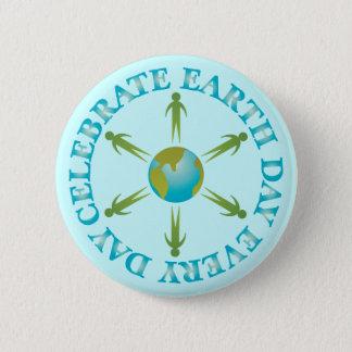 Bóton Redondo 5.08cm Presente do t-shirt do Dia da Terra do planeta