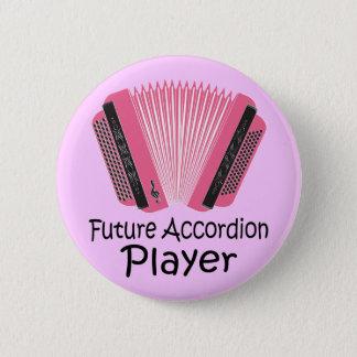 Bóton Redondo 5.08cm Presente futuro do botão do jogador do acordeão