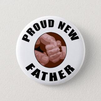 Bóton Redondo 5.08cm Presente novo orgulhoso do pai
