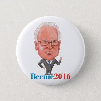 Bóton Redondo 5.08cm Presidente 2016 de Bernie Democrata Caricatura