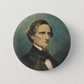 Bóton Redondo 5.08cm Presidente de estados confederado Jefferson Davis