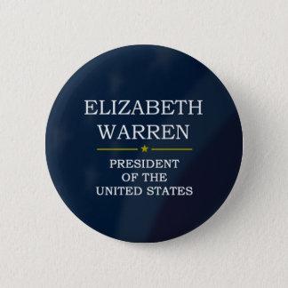 Bóton Redondo 5.08cm Presidente V3 de Elizabeth Warren