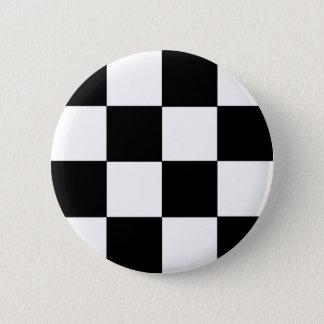 Bóton Redondo 5.08cm Preto Checkered & branco