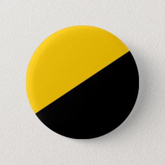 Bóton Redondo 5.08cm Preto de Anarcho e amarelo capitalistas