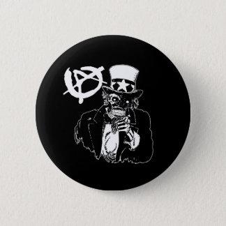 Bóton Redondo 5.08cm Preto do crânio da anarquia