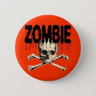 Bóton Redondo 5.08cm Preto do crânio do zombi