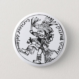 Bóton Redondo 5.08cm Preto do deus da lua - botão de surpresa de México