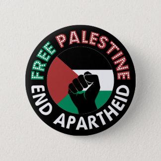 Bóton Redondo 5.08cm Preto livre do punho da bandeira do Apartheid do