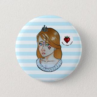 Bóton Redondo 5.08cm Princesa dos áss - botão (azul)