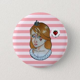 Bóton Redondo 5.08cm Princesa dos áss - botão (rosa)