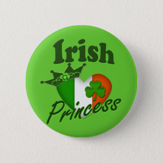 Bóton Redondo 5.08cm Princesa irlandesa Herança Coração