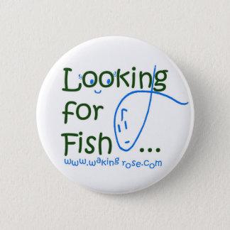 Bóton Redondo 5.08cm Procurando o Pin do botão dos peixes