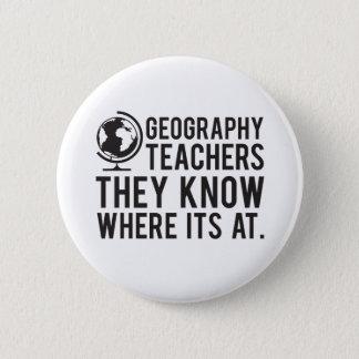 Bóton Redondo 5.08cm Professores da geografia, sabem em onde é