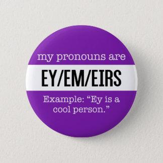 Bóton Redondo 5.08cm Pronomes de Ey/Em - bandeira criativa do género