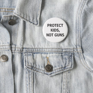 Bóton Redondo 5.08cm proteja miúdos, não armas