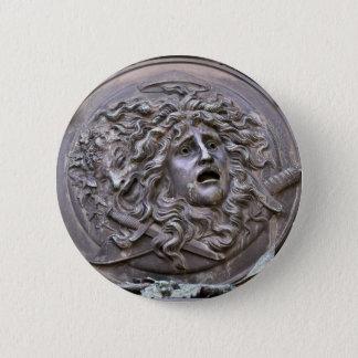 Bóton Redondo 5.08cm Protetor do Medusa de Athena