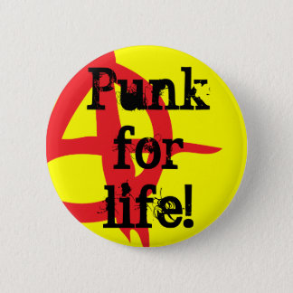 Bóton Redondo 5.08cm Punk para a vida!