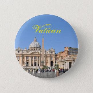 Bóton Redondo 5.08cm Quadrado de San Pietro no vaticano, Roma, Italia
