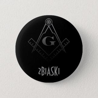 Bóton Redondo 5.08cm Quadrado e botão do compasso